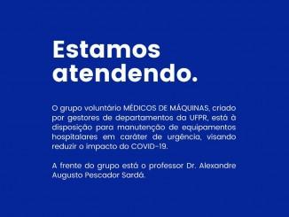 Princesa dos Campos apoia o grupo voluntário Médicos de Máquinas.