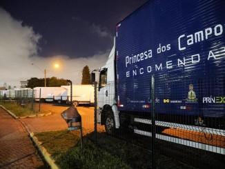 100% das Urnas Eletrônicas do Estado do Paraná foram entregues pelo time Expresso Princesa dos Campos