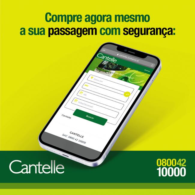 Agora você compra sua passagem de ônibus da Cantelle via Embarca.Ai